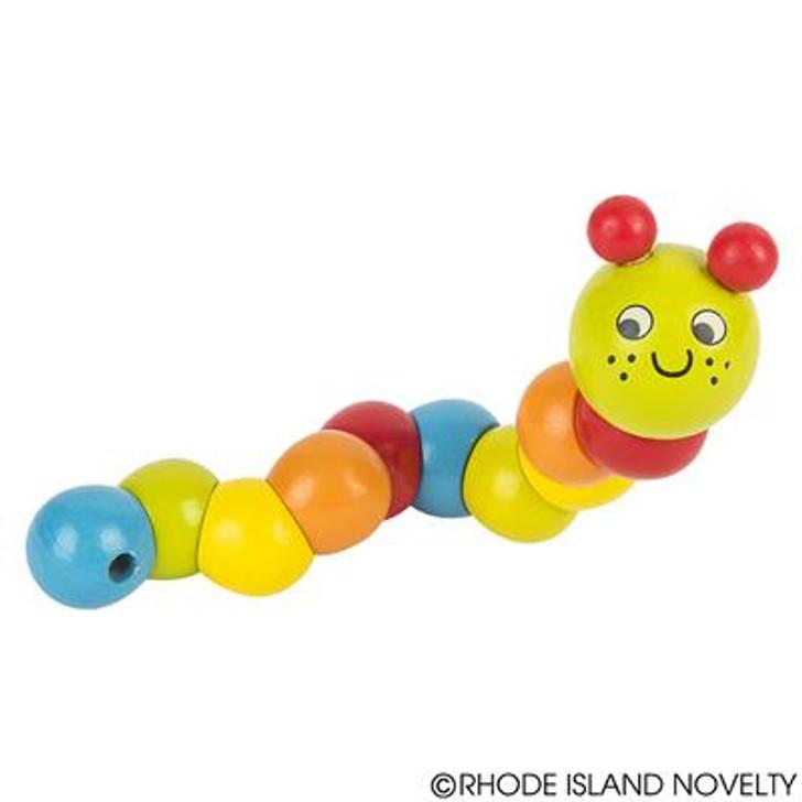 """7"""" Wiggly Wooden Caterpillar"""