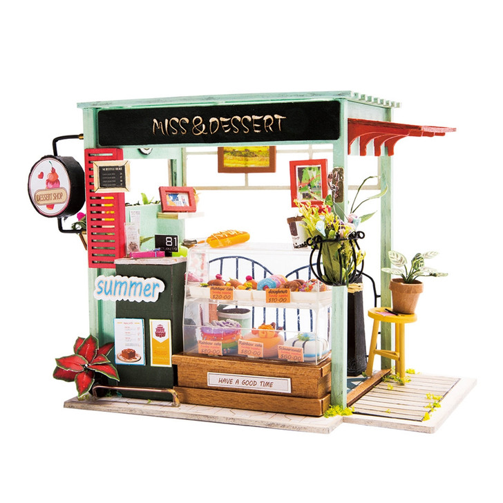 Ice Cream Station DIY Miniature Dollhouse Kit