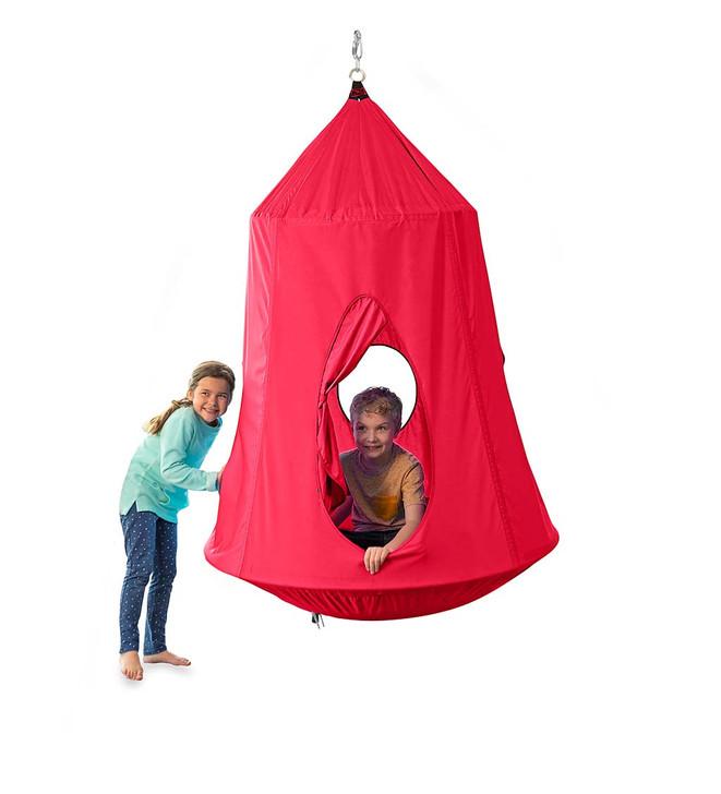 HugglePod HangOut Hanging Tent - Red