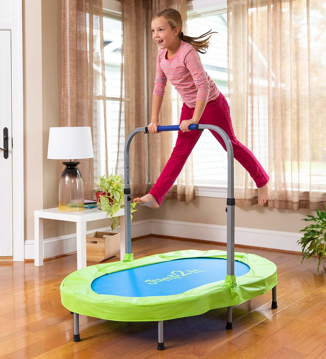 Jump2It Indoor Trampoline with Adjustable Folding Handle