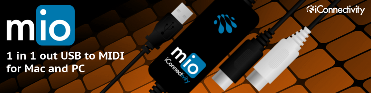 Mio 1-In-1-Out USB to MIDI for Mac and PC