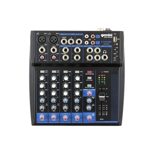 Gemini GEM-08USB COMPACT 8 CHANNEL BLUETOOTH MIXER