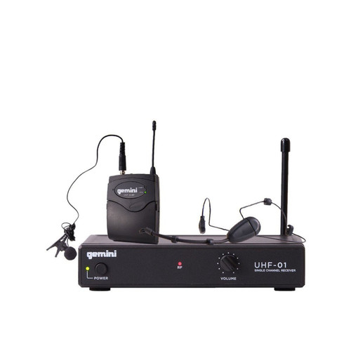 Gemini UHF-01HL Single channel UHF Wireless system - headset/lavalier