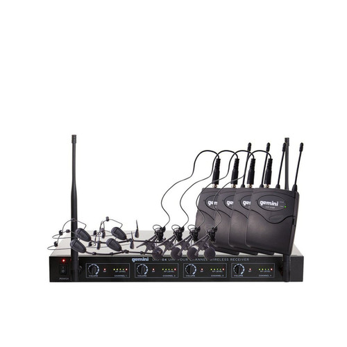 Gemini UHF-04HL Four channel UHF Wireless system - headset/lavalier