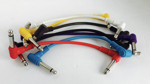 "CBI 8 Guitar PEDAL cables PATCH INST 12""  CB2-8RA"
