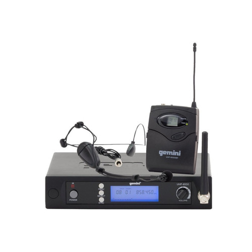 Gemini UHF-6100HL Single channel wireless UHF PLL system - headset/lavalier