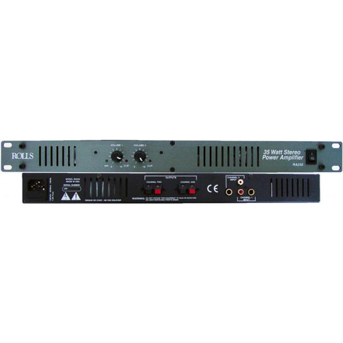 Rolls RA235 2 Channel 35W Power Amp for Little Red Cue Box