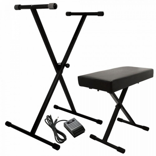 KPK6520 CB Keyboard Stand and Bench Pack with Keyboard Sustain Pedal