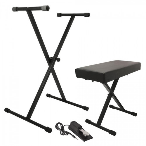 KPK6550 Keyboard Stand and Bench Pack with Keyboard Sustain Pedal