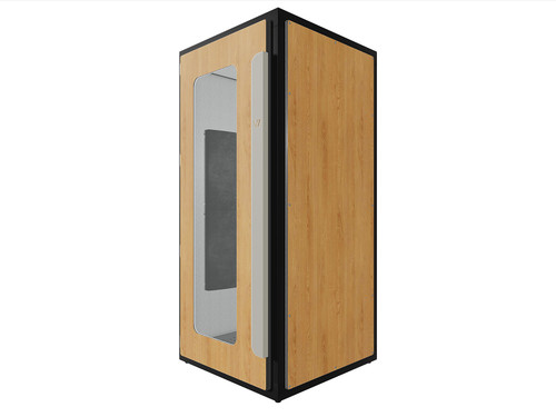 VICBOOTH ULTRA 1X1 NATURAL OAK VOCAL BOOTH