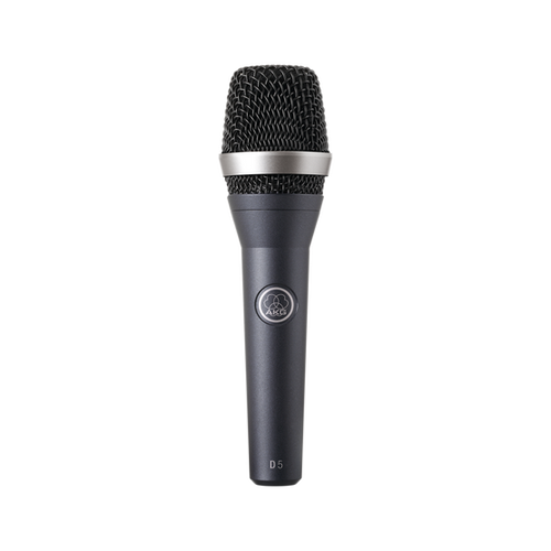 The D5 professional dynamic vocal microphone for lead and backing vocals delivers a powerful sound even on the noisiest stage. Its frequency-independent supercardioid polar pattern ensures maximum gain before feedback. The D5 stands for a crisp sound that cuts through every mix. The dual shock mount eliminates any kind of mechanical noise for trouble-free live use. The audience will hear the pristine sound of your voice! The D5 S has the same mechanical, electrical, and acoustic characteristics as the D5 and features a noiseless on/off switch.
