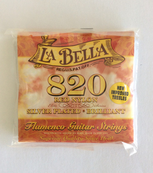 LA BELLA 820 GUITAR STRING SET/ FLAMENCO RED NYLON