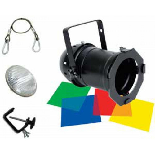 ADJ Par 46 Pack with Lamp, Gels, Clamp, Safety Cable (Black)