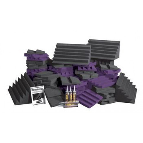 Auralex Designer Series Roominator Kit (116 panels, Charcoal, Purple) D108LCHA/PUR