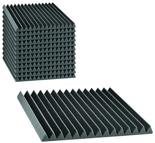 "2SF22CHA-HP  2"" Studiofoam Wedges (12-pack, 2'x2'x2"", Charcoal)"