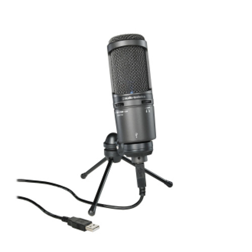 quipped with a USB output, the AT2020USB+ is designed for digitally capturing music or any acoustic audio source using your favorite recording software. The microphone offers the critically acclaimed, award-winning sound of the AT2020, with studio-quality articulation and intelligibility perfect for singer/songwriters, podcasters, voice-over artists, field recorders, and home studio recorders.