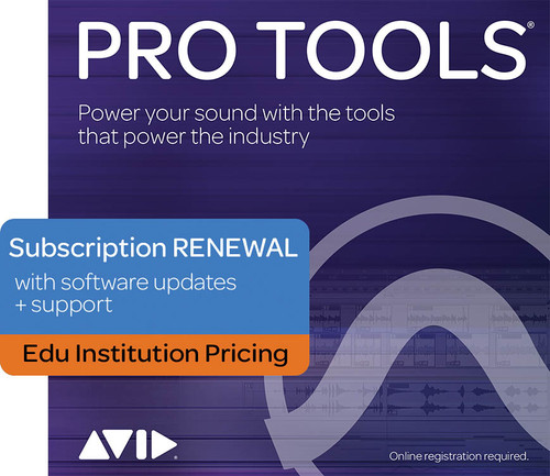 Pro Tools 1 Year Subscription Renewal INSTITUTIONAL