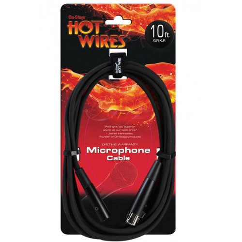 Hot Wire Microphone Cable 10' XLR MC12-10