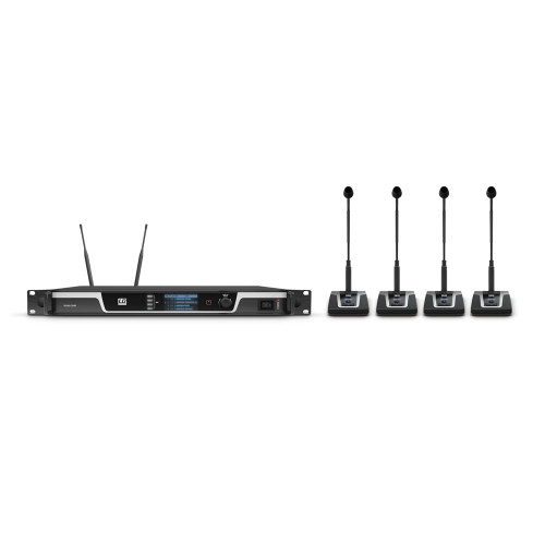 4-Channel Wireless Conference System U505 CS 4