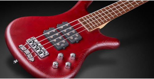 RockBass Corvette $$ 4 Strings Red Satin Now Includes Bag