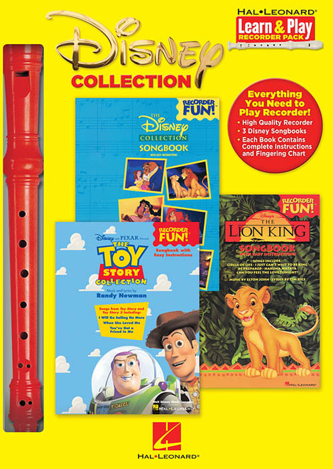 DISNEY COLLECTION Learn & Play Recorder Pack. (Sweet Soprano Flute)