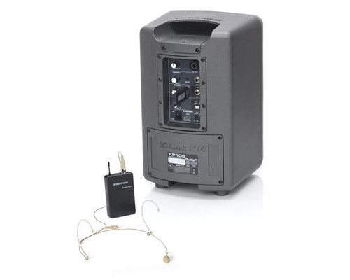 Expedition XP106w Rechargeable Battery-Powered Wireless PA with DE10 Headset Mic