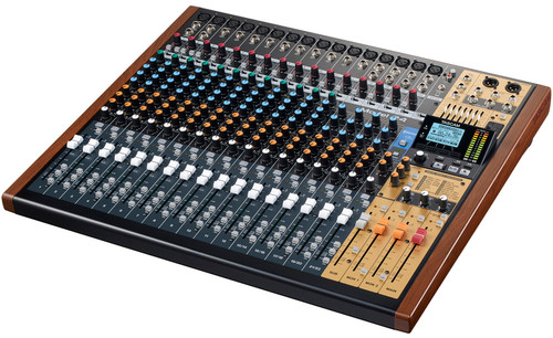 Model 24 Multi-Track Live Recording Console with USB Audio Interface and Analog Mixer