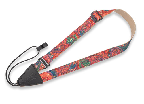 Cork Ukulele/Classical Strap – Paisley Folk Instruments Series – 1″ Wide