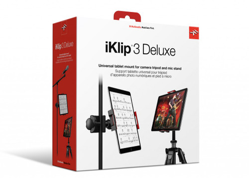iKlip 3 Deluxe Universal Tablet Holder for Mic Stand Mount & Tripod Mount