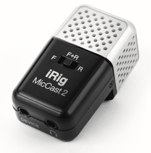 iRig Mic Cast 2 Podcasting Voice Recording Microphone for Smartphones & Tablets