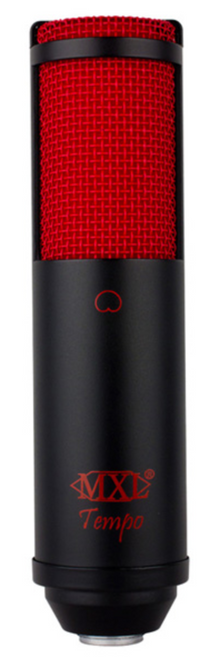 MXL Tempo USB Vocal Microphone with Black Body and Red Grill