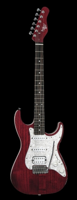Michael Kelly 63Op Electric Guitar, Trans Red