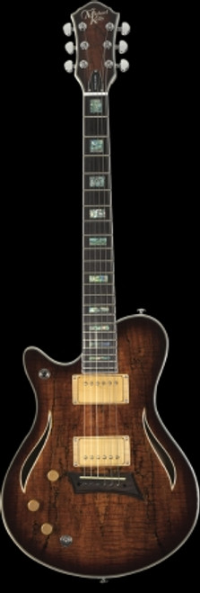 Michael Kelly Hybrid Special Lefty Electic Guitar, Spalted Burst