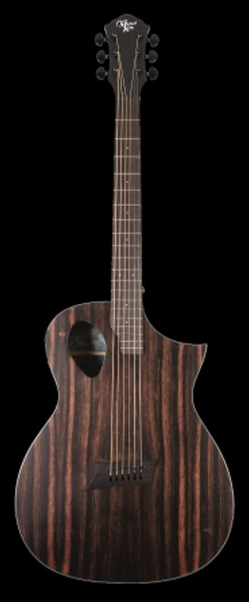 Michael Kelly Forte Exotic Acoustic/Electric Guitar, Java Ebony