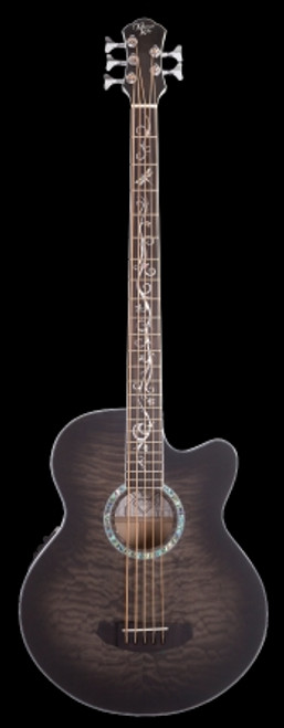 Michael Kelly Dragon Fly 5 Acoustic/Electric Bass, Smoke Burst