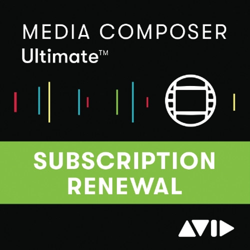 Media Composer 1 Year Subscription RENEWAL (Pre-July 1, 2019)
