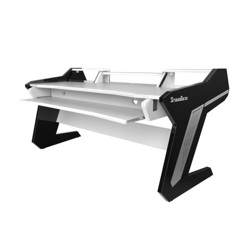 Commander V2 Desk with Keyboard Pullout Option White