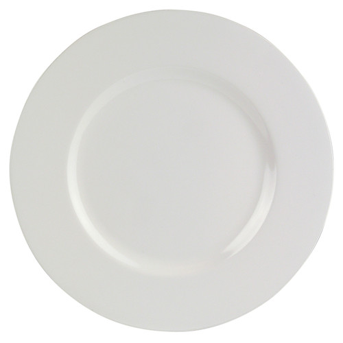 "Melamine 11"" White Dinner Plate"
