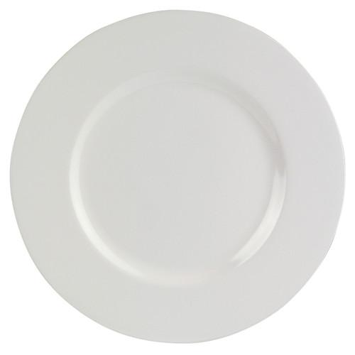 """Melamine 11"""" White Dinner Plate"""