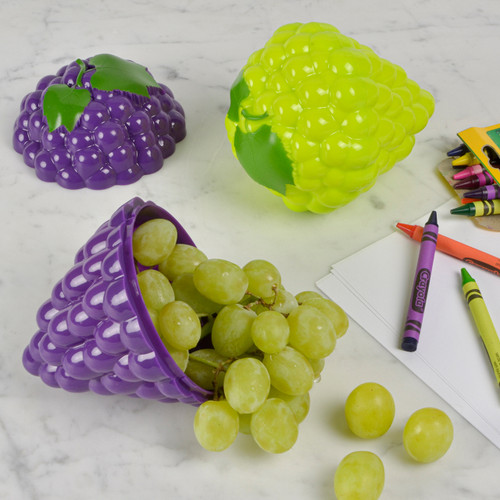 Grapes To Go with grapes and crayons