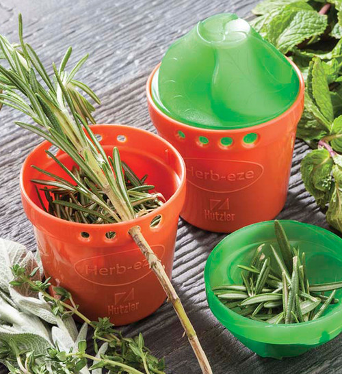 Hutzler Herb-Eze Herb Stripper with fresh Rosemary