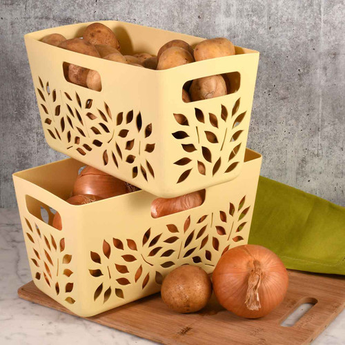 Almond Pantry Baskets with Potatoes and Onions
