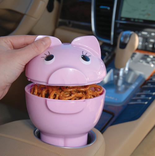 Hutzler PigOut Cargo Bowl in car cupholder