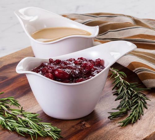 Hutzler Saucy Server with Gravy & Cranberry Sauce