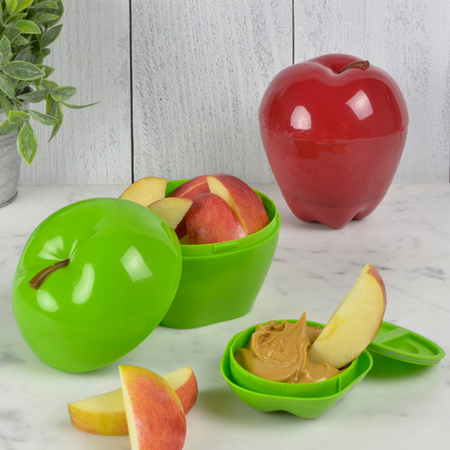 Apple & Dip To-Go with apples and peanut butter