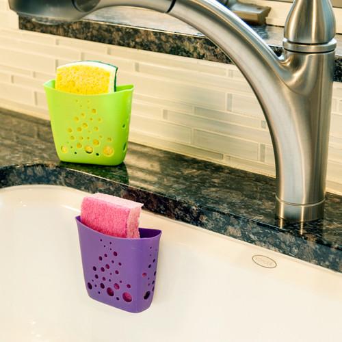 Hutzler Sponge Station with sponge in sink