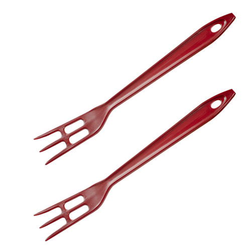 Hutzler Lopol Nylon Fork Set, dark red