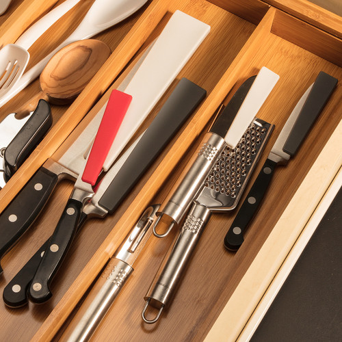 Knives with Knife Covers in Drawer