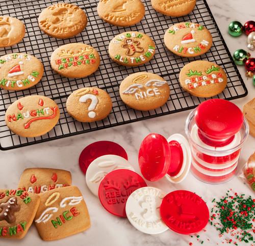 Santa's Kitchen® Cookie Stamps Baked Cookies