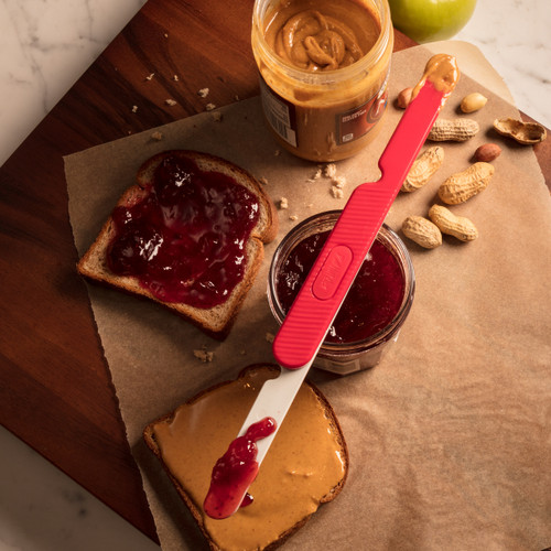 Reader Spreader with PB&J sandwich